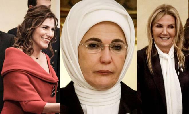 Το παρασκήνιο ενός δείπνου: Οι χαμογελαστές Μπέτυ Μπαζιάνα και Μαρέβα Μητσοτάκη και η «μουτρωμένη» Εμινέ Ερντογάν [Εικόνες]