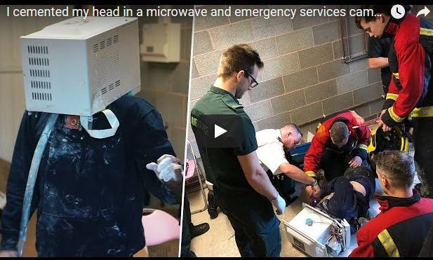 Απίστευτο: 22χρονος τσιμέντωσε το κεφάλι του… σε φούρνο μικροκυμάτων! – ΒΙΝΤΕΟ