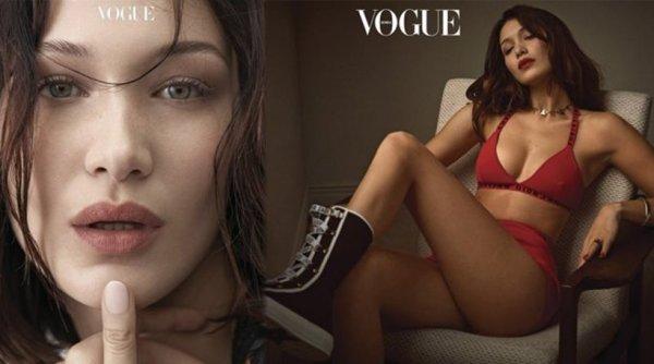 Η Bella Hadid ποζάρει κι αναστατώνει στο πρώτο εξώφυλλο του 2018 για τη Vogue (ΦΩΤΟ)