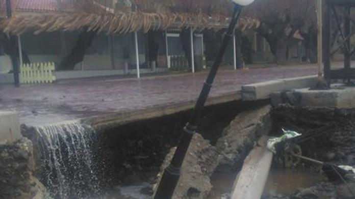 Σοβαρά προβλήματα στη Λέσβο λόγω των ισχυρών βροχοπτώσεων