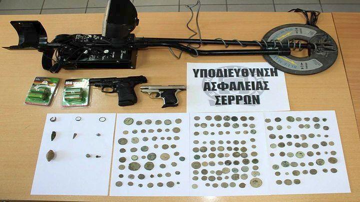 Σέρρες: Σύλληψη 63χρονου για κατοχή αρχαίων αντικειμένων