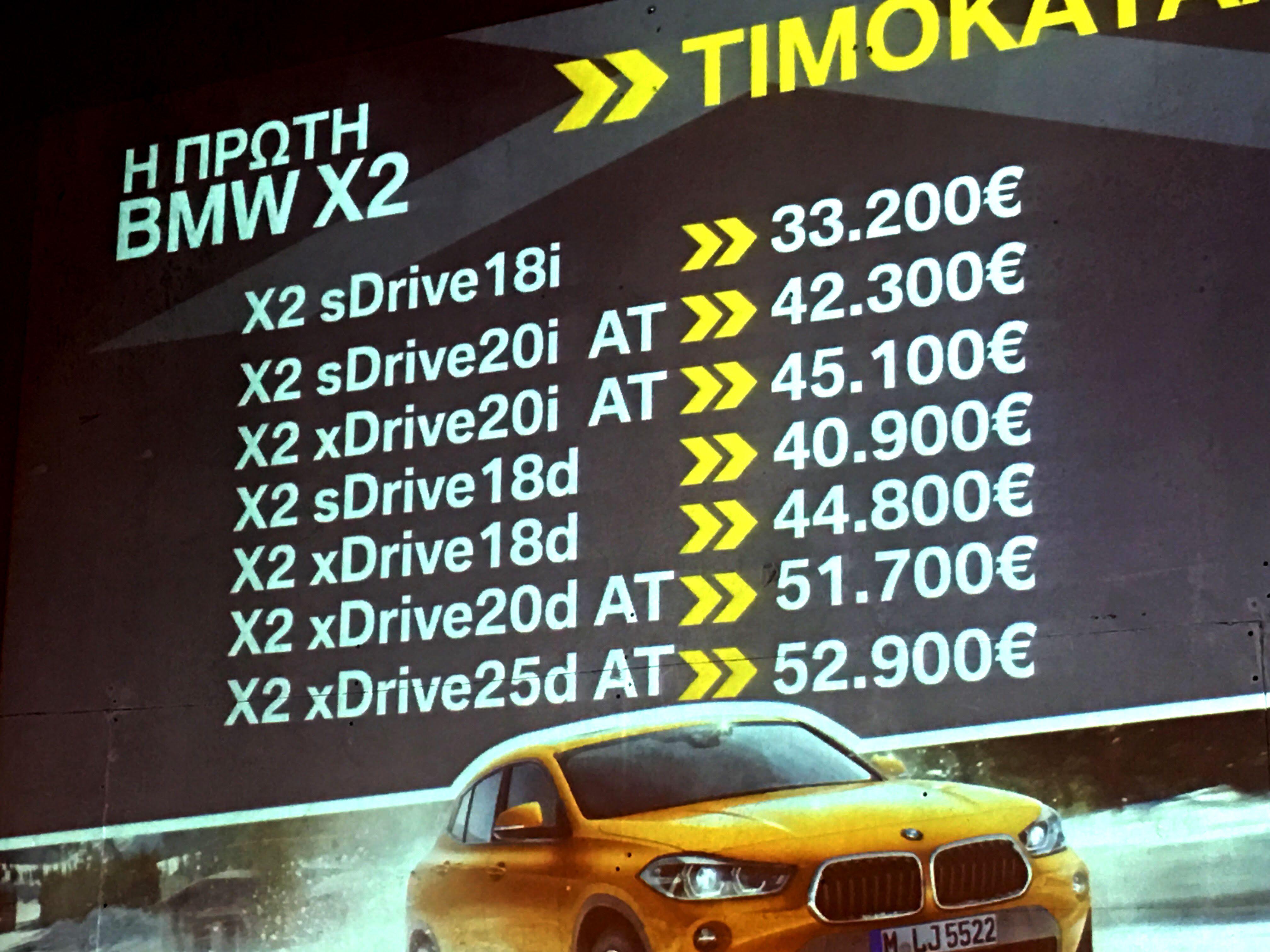 Ξεκίνησε το λανσάρισμα της νέας BMW X2
