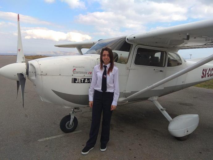 16χρονη από την Κρήτη είναι η νεαρότερη πιλότος που έχει εκπαιδευτεί ποτέ στην Ελλάδα