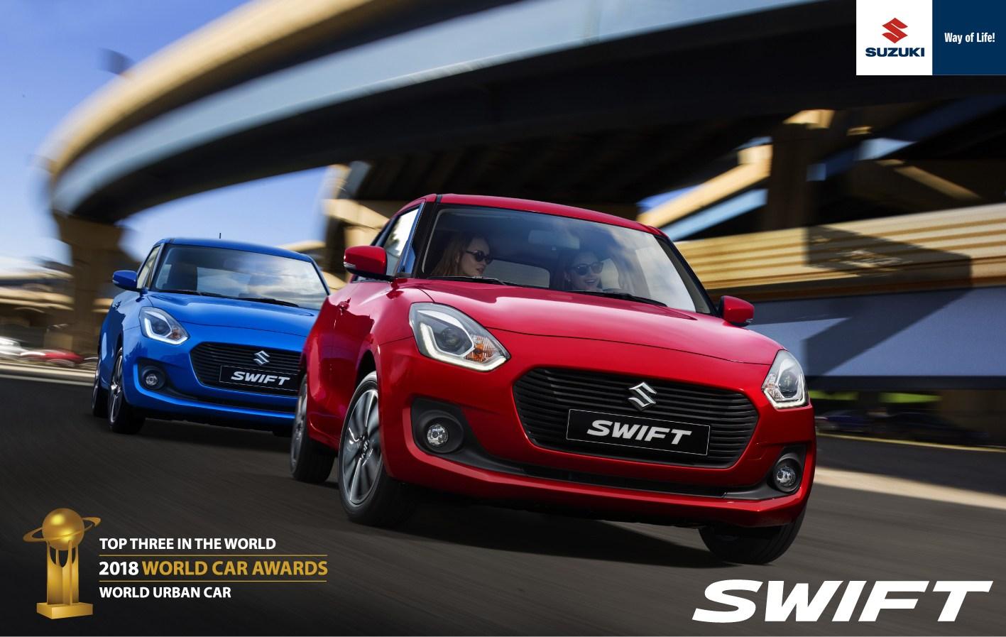 Φιναλίστ του World Urban Car 2018 το Suzuki SWIFT