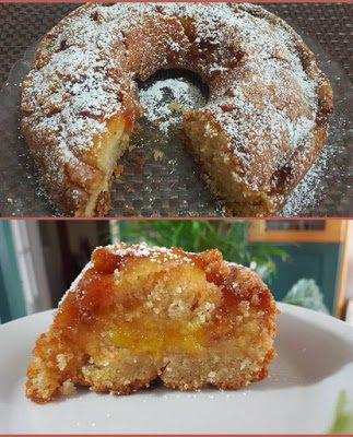 Κέικ με μαρμελάδα Ροδάκινο (Νηστίσιμο)