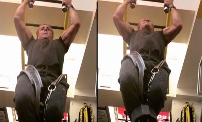 O Σταλόνε στα 71 του είναι φέτες και «λιώνει» στο γυμναστήριο