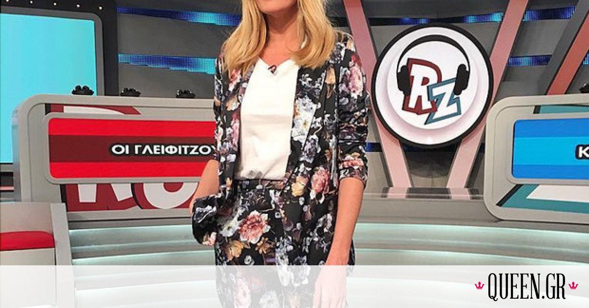 H Ζέτα Μακρυπούλια φοράει το πιο κομψό ανοιξιάτικο σύνολο