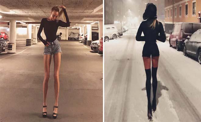Σουηδέζα έχει τα πιο υπερφυσικά πόδια στον κόσμο με μήκος 102 εκατοστά