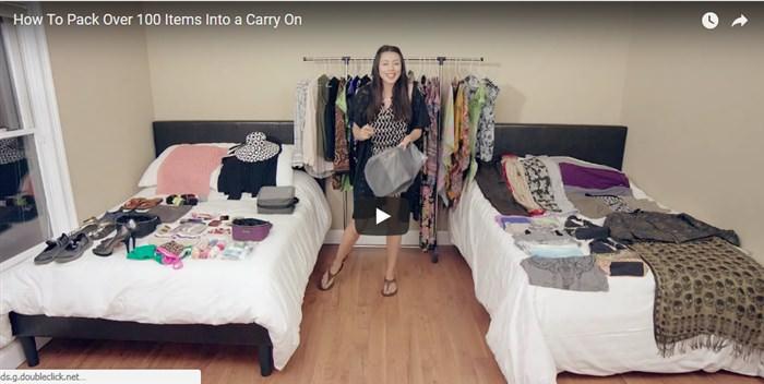 Δείτε αυτή τη γυναίκα να πακετάρει 100 αντικείμενα σε μία βαλίτσα