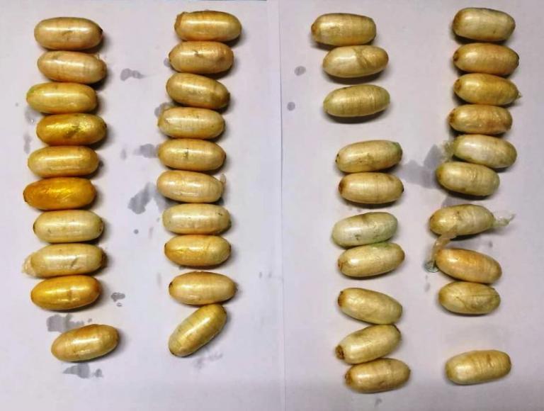 Συνελήφθη Ολλανδός που είχε καταπιεί 40 συσκευασίες κοκαΐνης