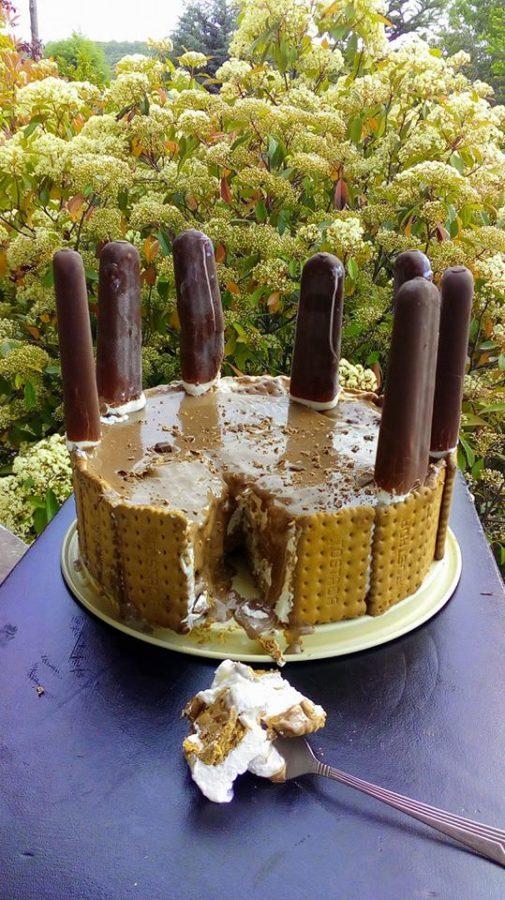 Εύκολη, δροσερή, σπέσιαλ τούρτα παγωτό με μπισκότα