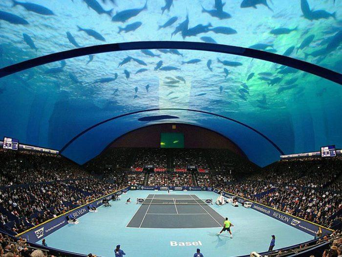 Το πρώτο υποβρύχιο γήπεδο τένις του κόσμου στο Ντουμπάι