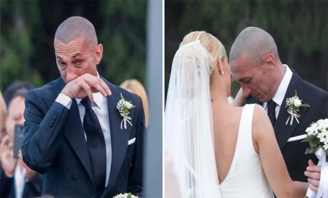 «Λύγισε» ο Μπρούνο Τσιρίλο στον γάμο του με την Έλενα Ασημακοπούλου