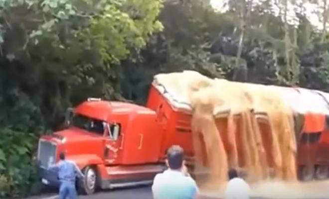 Όταν ο κατασκευαστής λέει 10 τόνους και εσυ φορτώνεις 50… μάντεψε ποιός φτάιει! [Βίντεο]