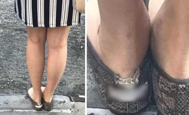 Δεν υπάρχει η γυναίκα… Δείτε τι πήγε κι έγραψε στο παπούτσι της, επειδή ήτανε τρύπιο!