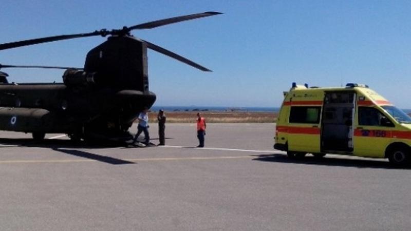 Ηράκλειο: Επείγουσα αερομεταφορά για άνδρα με ανεύρυσμα
