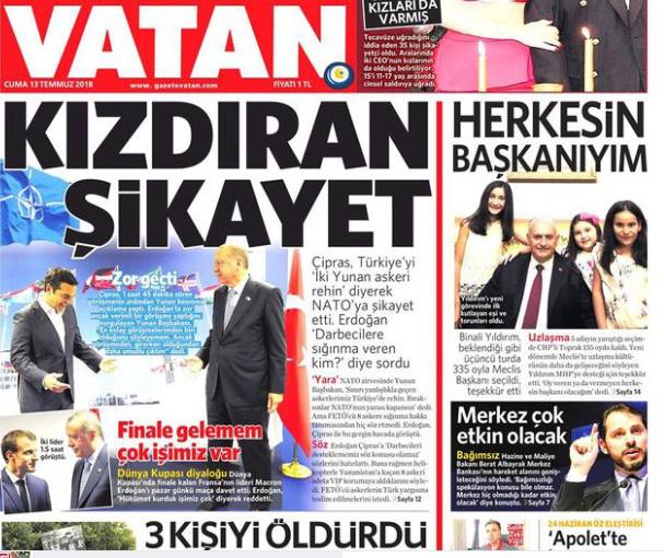 Τουρκική εφημερίδα: Ο Τσίπρας εκνεύρισε τον Ερντογάν