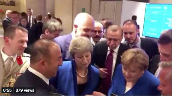 Μουντιάλ 2018: Οι ηγέτες παράτησαν όλα στη Σύνοδο του ΝΑΤΟ και είδαν το Κροατία – Αγγλία (Video)