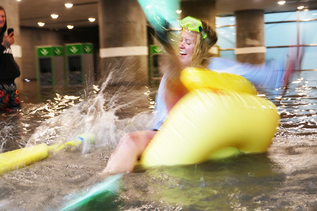Σουηδία: Έκαναν «θαλάσσιο πάρκο» σταθμό του μετρό που πλημμύρισε