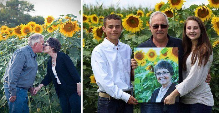 Σύζυγος φύτεψε 400 στρέμματα ηλιοτρόπια για τη γυναίκα του που πέθανε από καρκίνο. Υπάρχει λόγος…