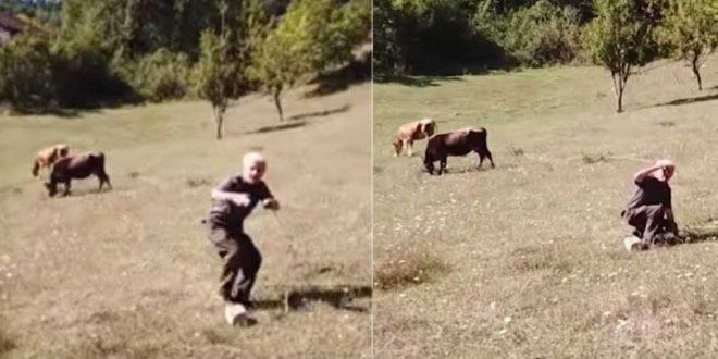 Τούρκος βοσκός τρομοκρατείται όταν βλέπει για πρώτη φορά drone και τρέχει να σωθεί