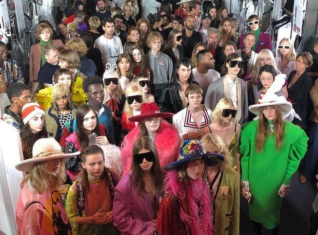 Στο fashion show του Gucci η μόδα του παρελθόντος μοιάζει επίκαιρη