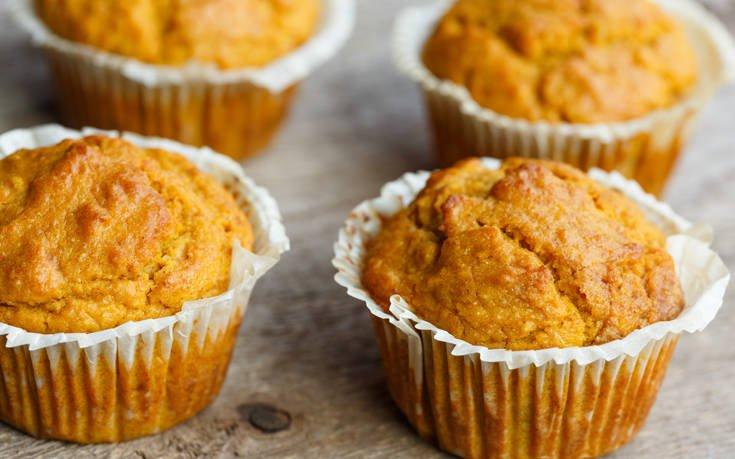 Muffins με κολοκύθα