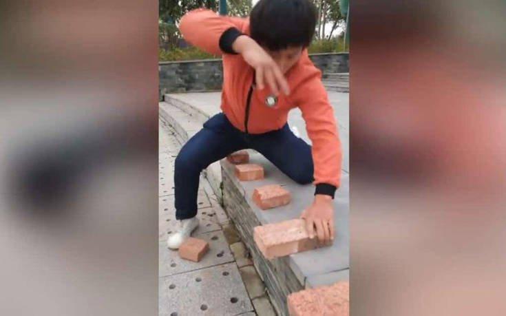 Πόσα τούβλα μπορεί να σπάσει κάποιος με το χέρι του σε 40 δευτερόλεπτα;