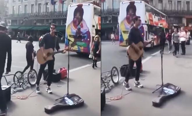 Ο Ρουβάς βγήκε στους δρόμους του Παρισιού και τραγούδησε στους περαστικούς