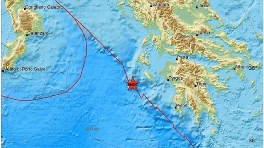 Σεισμός 3,8 Ρίχτερ νοτιοδυτικά της Ζακύνθου