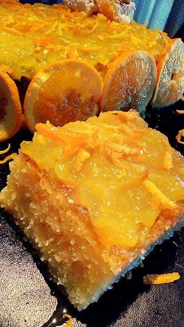 Αφράτο ρεβανί με κρέμα πορτοκαλιού !!!
