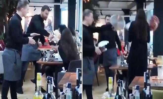 Σερβιτόροι τσαντίστηκαν με αγενέστατη πελάτισσα και της πέταξαν τα γλυκά στη μούρη