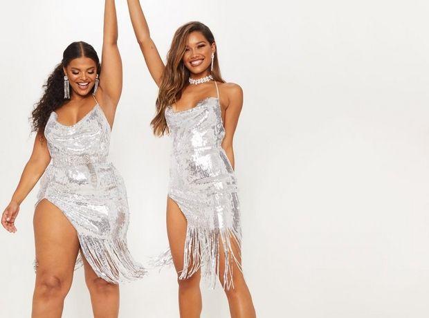 Επιτέλους, δύο μοντέλα διαφορετικού μεγέθους φορούν το ίδιο φόρεμα σε διαφημιστική καμπάνια