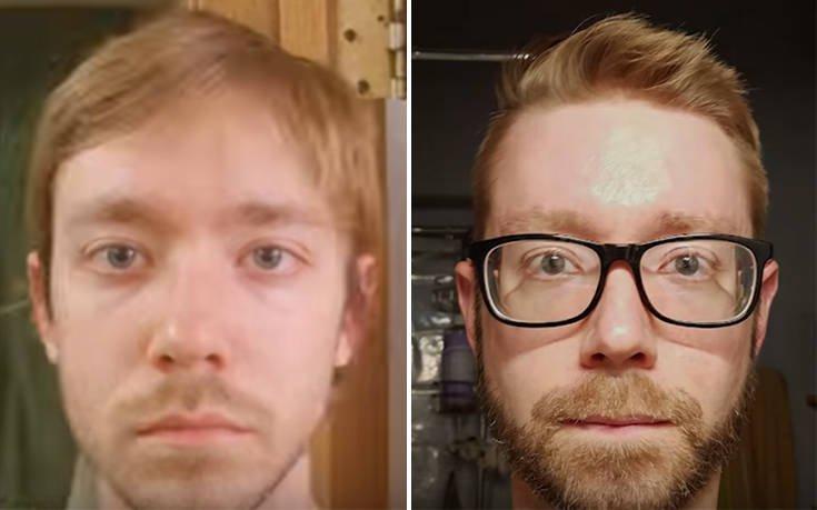 Η μεταμόρφωση δέκα ετών ενός άνδρα μέσα σε δύο λεπτά