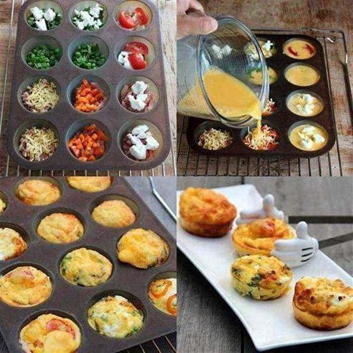 Φωλίτσες διάφορων λαχανικών με αυγά ομελέτα !!! Απίθανες !!!