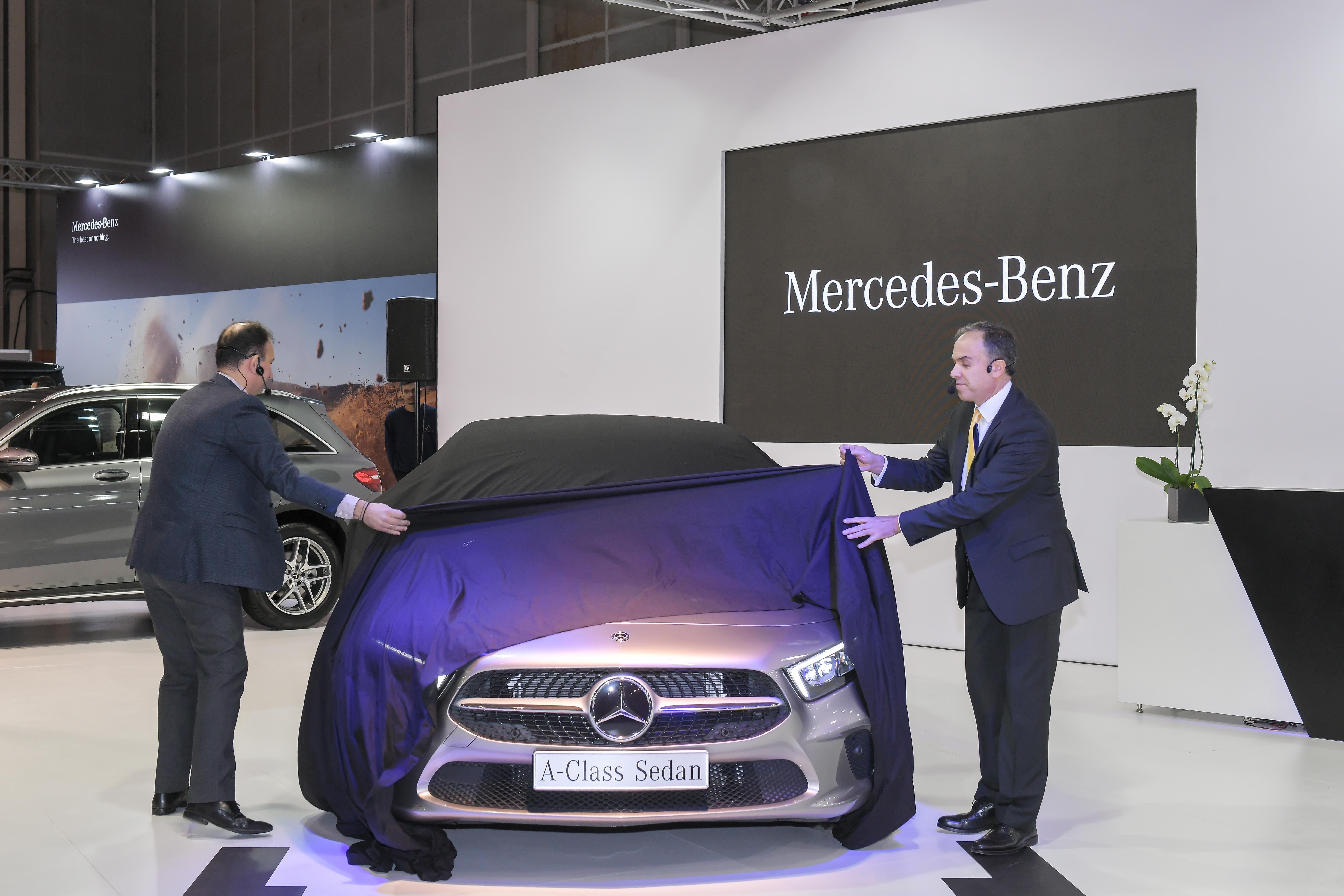H Mercedes-Benz Ελλάς στην Αυτοκίνηση-ΕΚΟ 2018 αποκάλυψε την νέα Α-Class Sedan