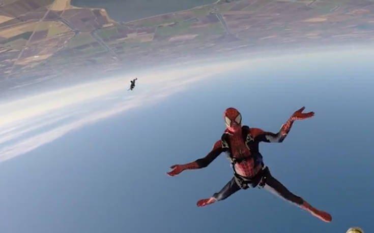 Ένας ιπτάμενος Spiderman