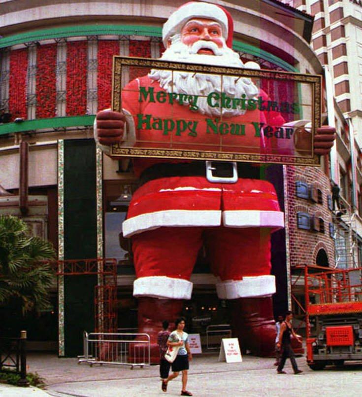 Ο μεγαλύτερος Άγιος Βασίλης που έχει κατασκευαστεί ποτέ