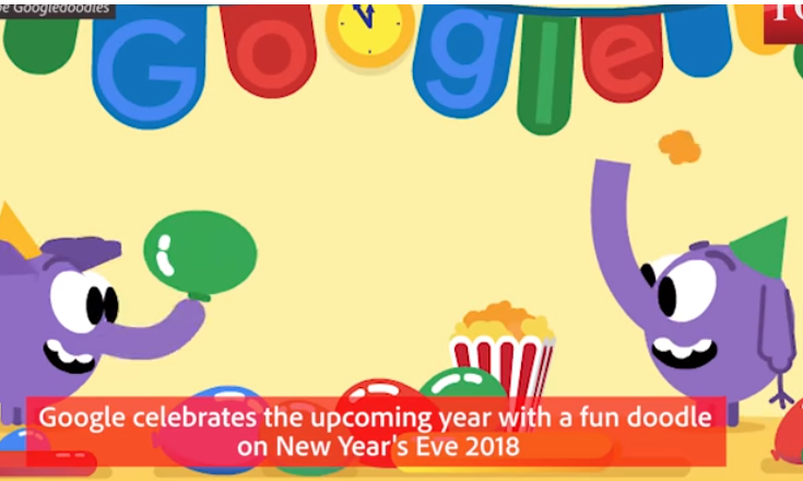 Παραμονή Πρωτοχρονιάς: Το τελευταίο doodle της Google για το 2018