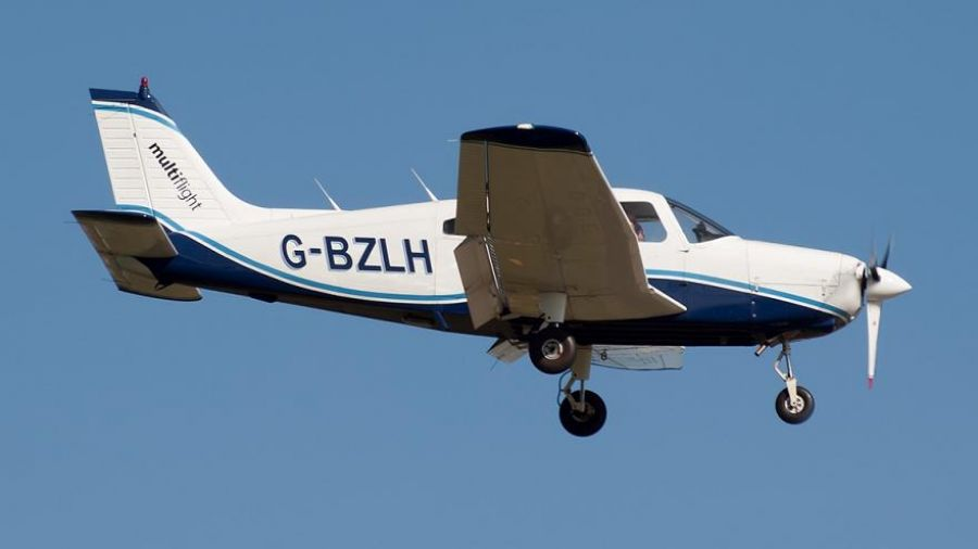 Πτώση διθέσιου αεροσκάφους στο Μεσολόγγι