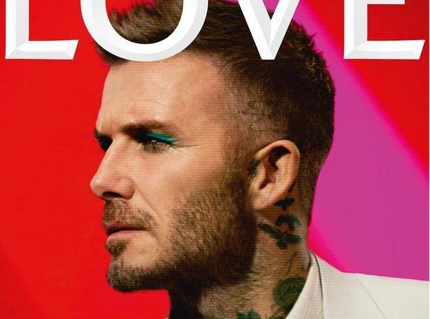 Το πρώτο εξώφυλλο της χρονιάς για τον David Beckham, φορώντας πράσινο eyeliner