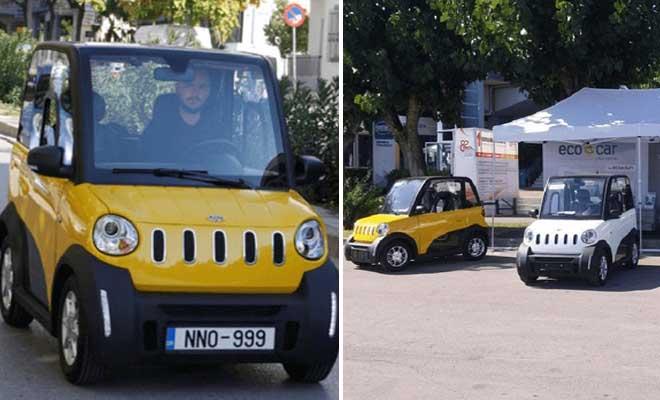 Το ελληνικό αυτοκίνητο που κυκλοφορεί με 1 ευρώ/100 χλμ, φορτίζει στην πρίζα του σπιτιού και παρκάρει σε θέση… κάδου!
