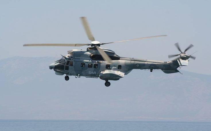 Ναυτικός μεταφέρθηκε με Super Puma στο νοσοκομείο