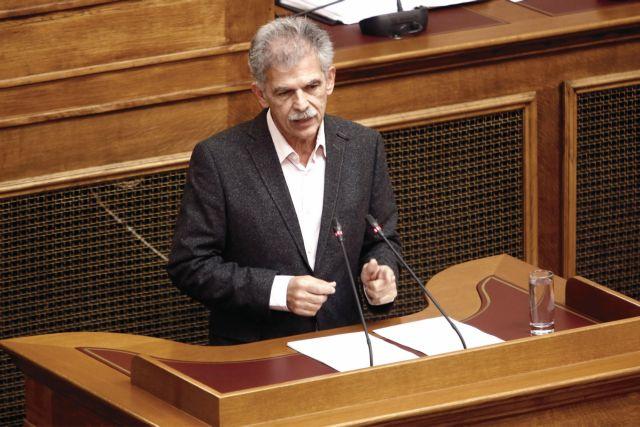 Δανέλλης: Θα δώσω ψήφο εμπιστοσύνης στην κυβέρνηση