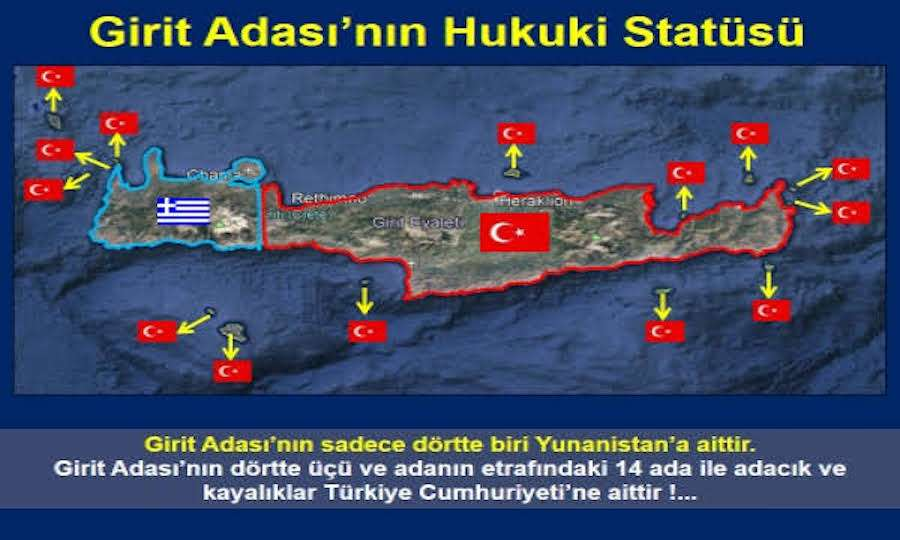 """""""Η Κρήτη δεν είναι ελληνική"""" γράφουν οι Τούρκοι και επικαλούνται και συνθήκες"""