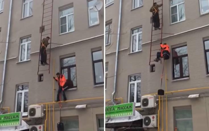 Ένα εργατικό ατύχημα που θα μπορούσε να είχε πολύ χειρότερη κατάληξη