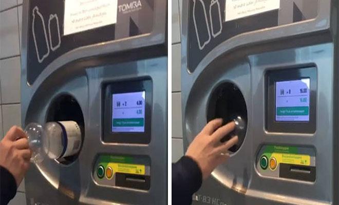 Πολύ μπροστά οι Σουηδοί: Μηχάνημα δέχεται πλαστικά μπουκάλια και βγάζει λεφτά! [Βίντεο]