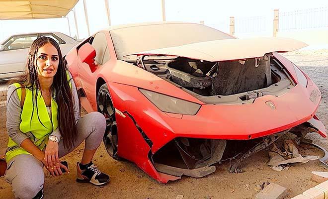"""«Πόνεσε η ψυχή μας…» """"Πληγωμένες"""" Ferrari, Lambo, R8, Rolls Royce στο μεγαλύτερο νεκροταφείο αυτοκινήτων του Ντουμπάι"""