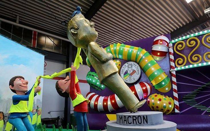 Το καρναβάλι της Κολωνίας… «τιμά» τον Μακρόν και τα «κίτρινα γιλέκα»