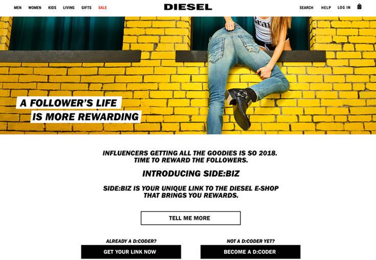 Θα αποκαλύψει η Diesel τους πραγματικούς Influencers των social media;